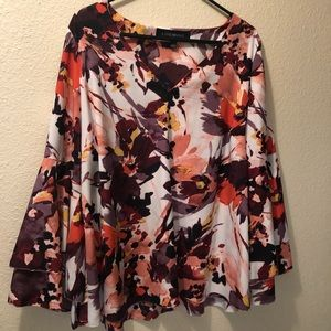 Lane Bryant Floral Wide-Sleeve Blouse